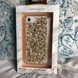Nanette lepore gold phone case